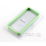 Чехлы для apple BUMPER Green-Clear 5G FOR IPHONE
