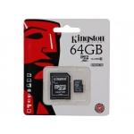 Карты памяти KINGSTON microSDXC 64GB class 10 UHS-I (SDC10G2/64GB)