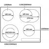 Варочные поверхности FABIANO FHE18-44VTC LUX INOX