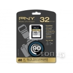 Карты памяти PNY SDXC 32GB CLASS 10 ELITE PERFORMACE HIGHT SPEED (P-SDH32U1H-GE)