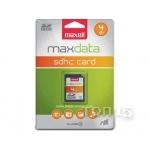 Карты памяти MAXELL MAXDATA 4GB SDHC CLASS 4 (501001FD)