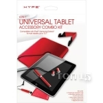 Аксессуары для планшетов HYPE UNIVERSAL TABLET ACCESSORY COMBO KIT 6-IN-1 FOR TABLET 10.1 RED HY-TABCMB-RED