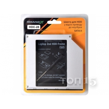 GRAND-X HDD 2.5'' TO NOTEBOOK ODD SATA/MSATA (HDC-25N)