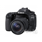 Зеркальные фотоаппараты CANON EOS 80D (W) EF-S 18-55 IS STM KIT