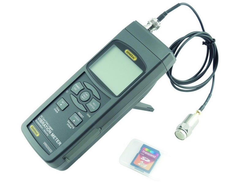 GENERAL VIBRATION METER WITH EXCEL-FORMATTED DATA LOGGING SD CARD VM8205SD