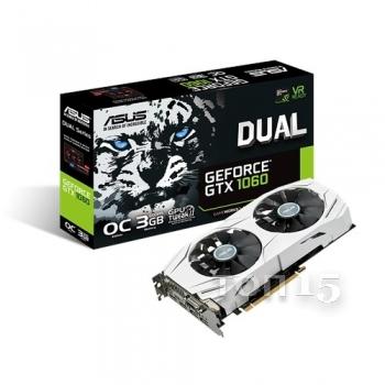 Видеокарты ASUS GEFORCE GTX1060 DUAL OC 3GB (DUAL-GTX1060-O3G)