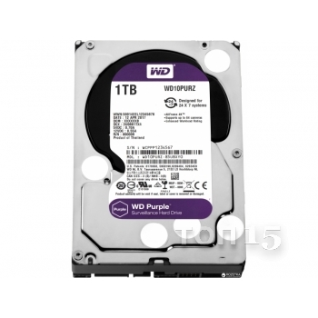 Жёсткие диски WESTERN DIGITAL 1TB HDD (WD10PURZ)