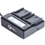 Аксессуары к камерам GREEN EXTREME UNIVERSAL DUAL CHARGER WITH LCD (GXCH2)