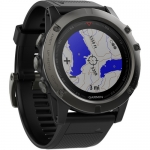 Smart часы GARMIN FENIX 5X SLATE GRAY SAPPHINE WITH BLACK BAND (010-01733-00)