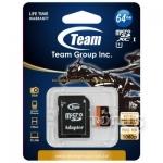 Карты памяти TEAM MICROSDXC 64GB CLASS 10 + ADAPTER (TUSDX64GUHS03)