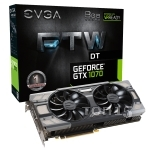 Видеокарты EVGA GEFORCE GTX 1070 FTW DT GAMING ACX 3.0 (08G-P4-6274-KR)