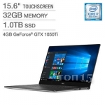 Ноутбуки DELL XPS 15 9570 (XPS9570-7085SLV-PUS) (I7-87500H / 32GB RAM / 1TB SSD / NVIDIA GEFORCE GTX1050TI / UHD TOUCH / WIN10)