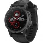 Smart часы GARMIN FENIX 5S PLUS SAPPHIRE BLACK WITH BLACK BAND (010-01987-02)