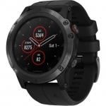 Smart часы GARMIN FENIX 5X PLUS SAPPHIRE BLACK WITH BLACK BAND (010-01989-00)