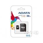Карты памяти ADATA MICROSDHC 32GB CLASS 4 (AUSDH32GCL4-RA1)