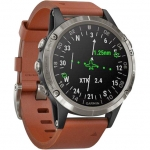 Smart часы GARMIN D2 DELTA AVIATOR WATCH WITH BROWN LEATHER BAND 47mm (010-01988-30)