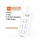 Аксессуары для дома XIAOMI MI POWER STRIP WITH 3USB+6PLUG 1.8m WHITE (CXB6-1QM)