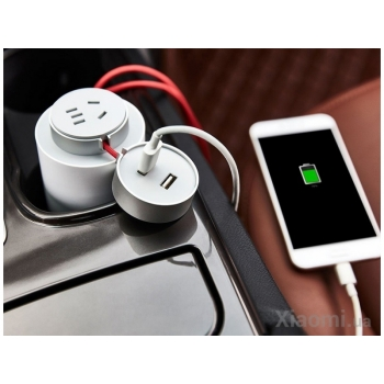 XIAOMI MIJIA CAR IMVERTER 100W WHITE (CZNBQ-1QM)