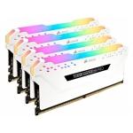 Оперативная память CORSAIR VENGEANCE® RGB PRO 32GB (4 x 8GB) DDR4 DRAM 3600MHz C18 MEMORY KIT WHITE (CMW32GX4M4C3600C18W)